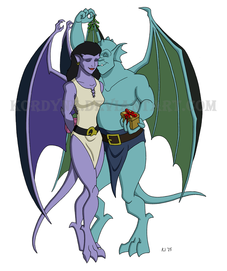 picture library library Gargoyles and Mistletoe by Kordyne on DeviantArt