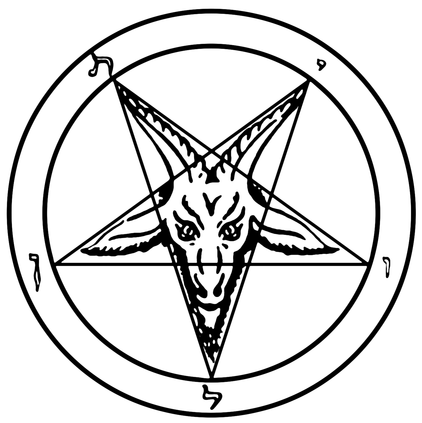 vector library Baphomet drawing easy. Investigative journalists reveal findings