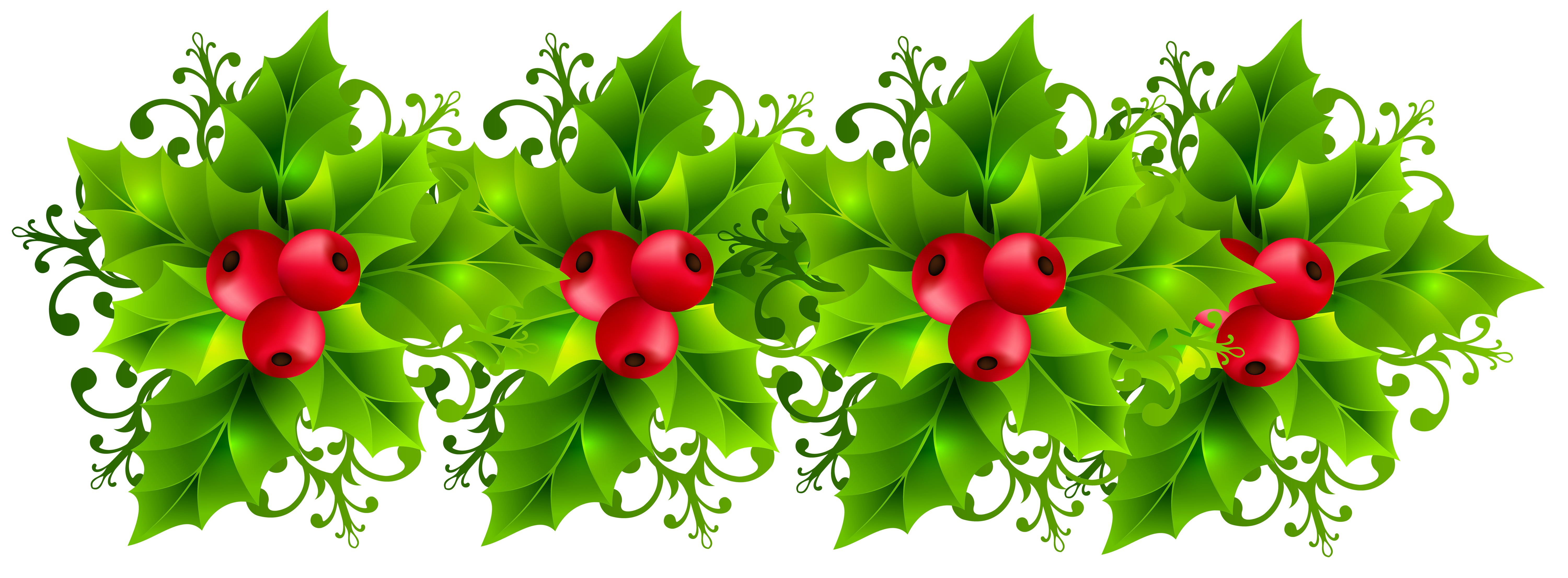 banner free download Christmas holly transparent png. Garland clipart