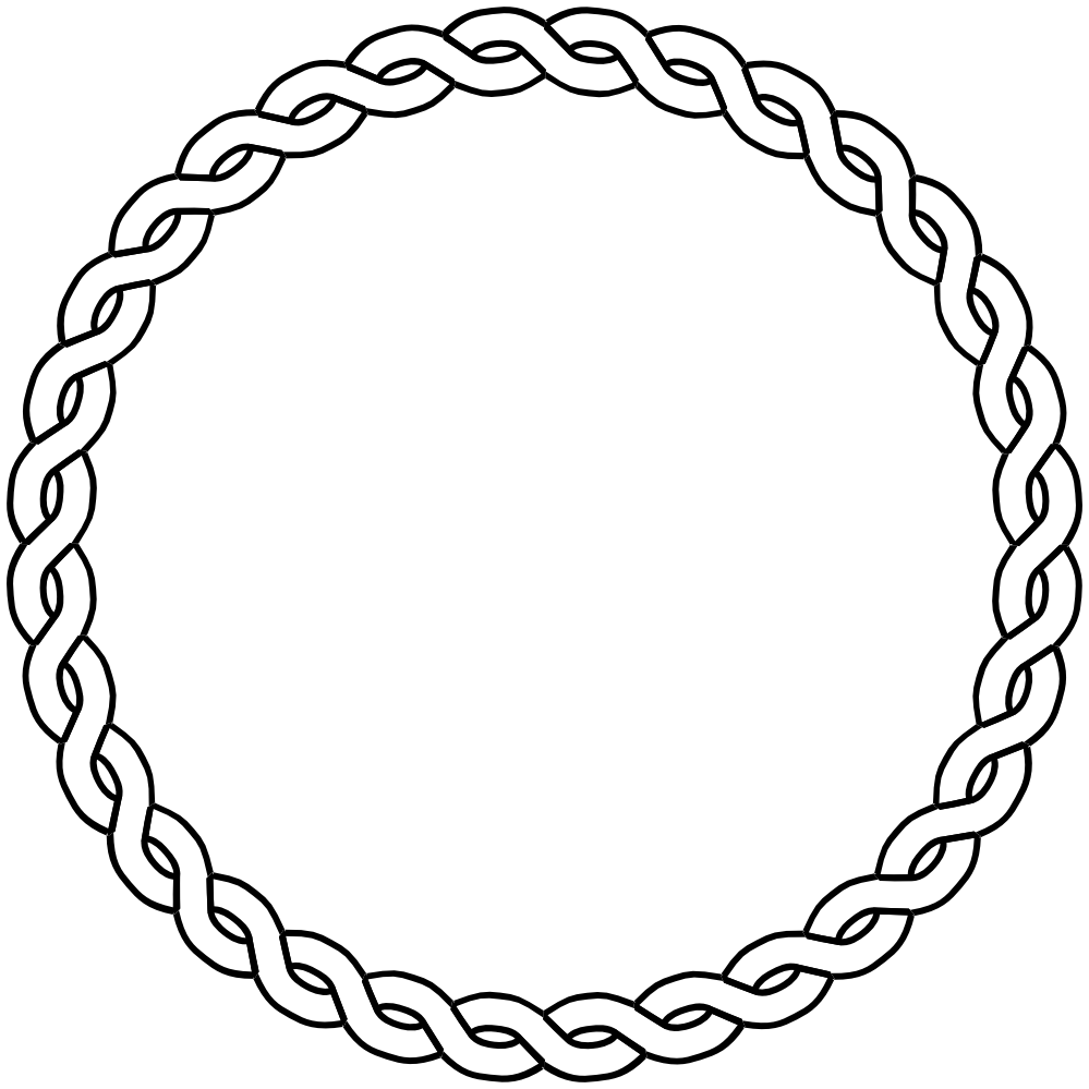 clip art black and white stock Black and white clipart borders. Nautical rope border circle.