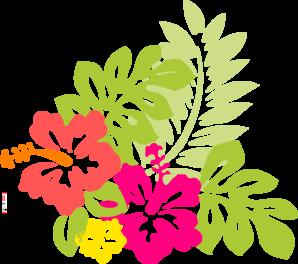 svg Luau clipart tropical rainforest. Hawaiian flower clip art.
