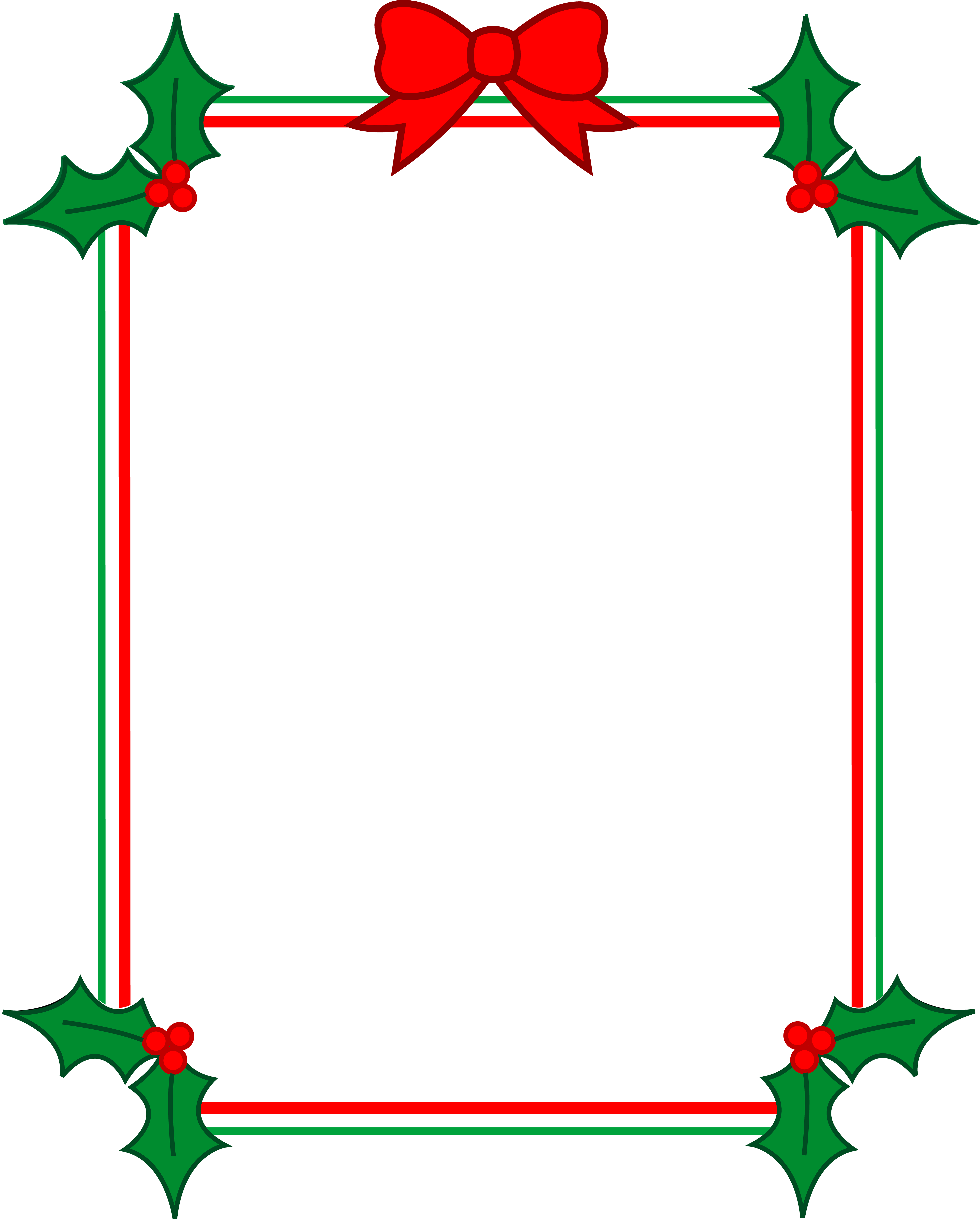transparent library Christmas Ribbon Border Clipart