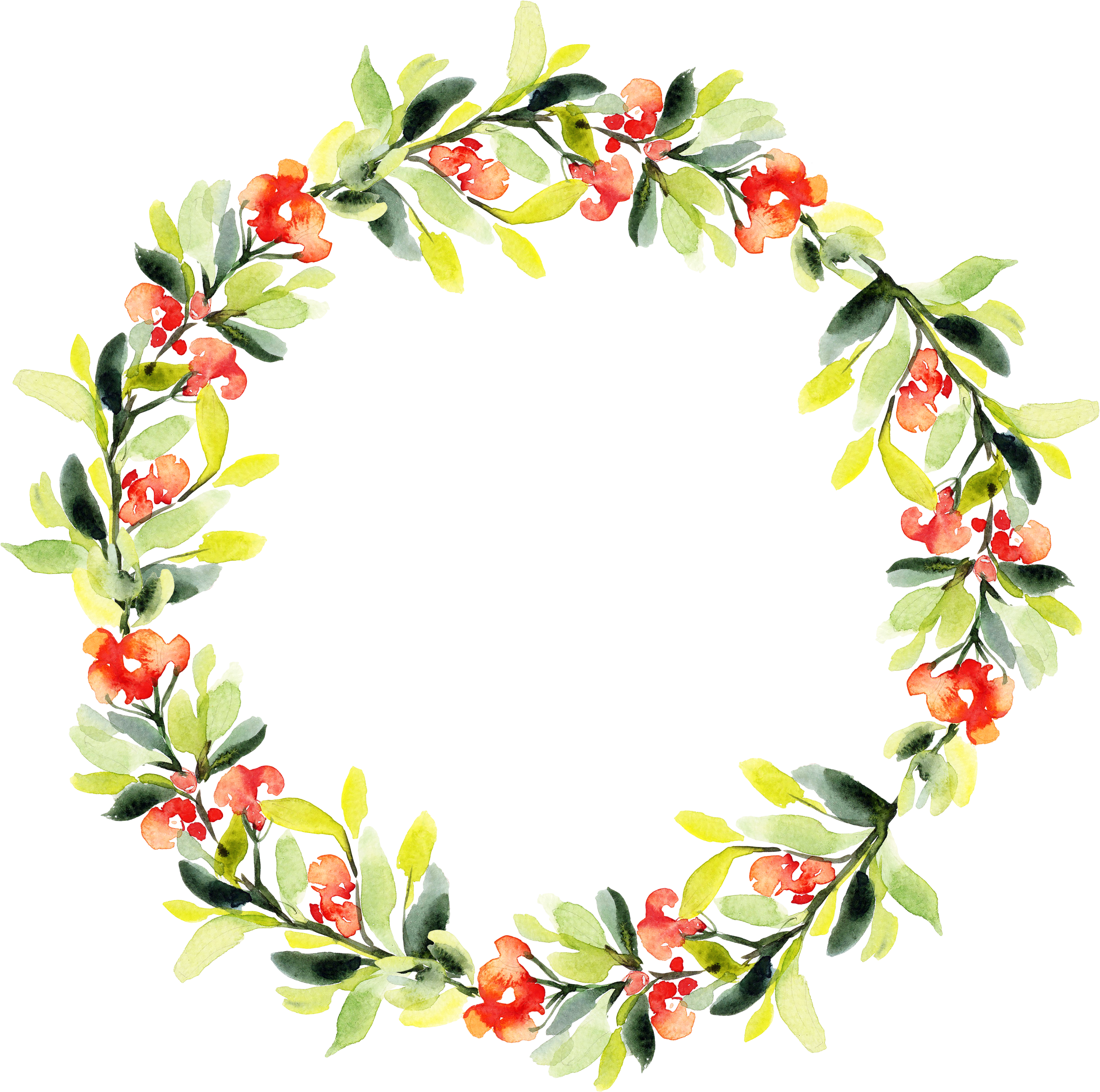 svg free download Floral design Garland Watercolor painting