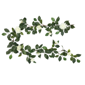 clipart black and white Camelia Garland S