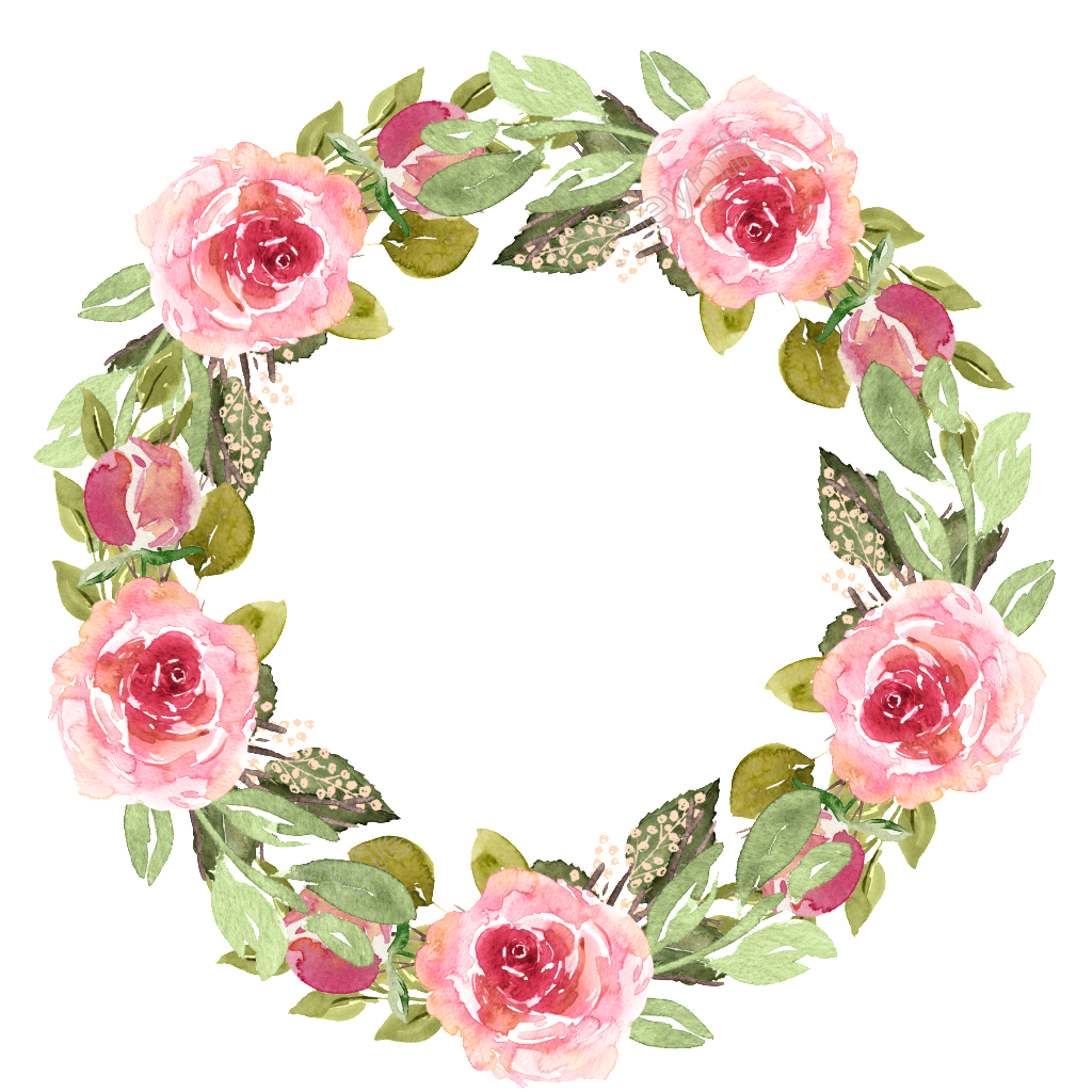 clipart free download Watercolor Garland Free Texture Material