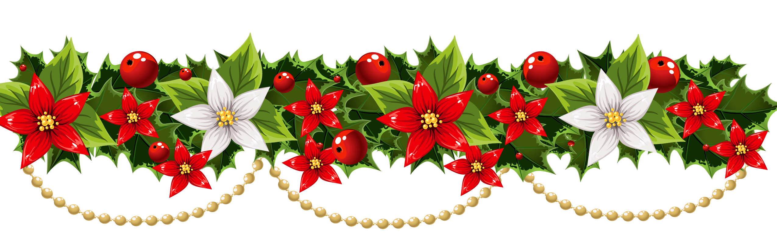 png free download Christmas decoration Poinsettia Garland Clip art