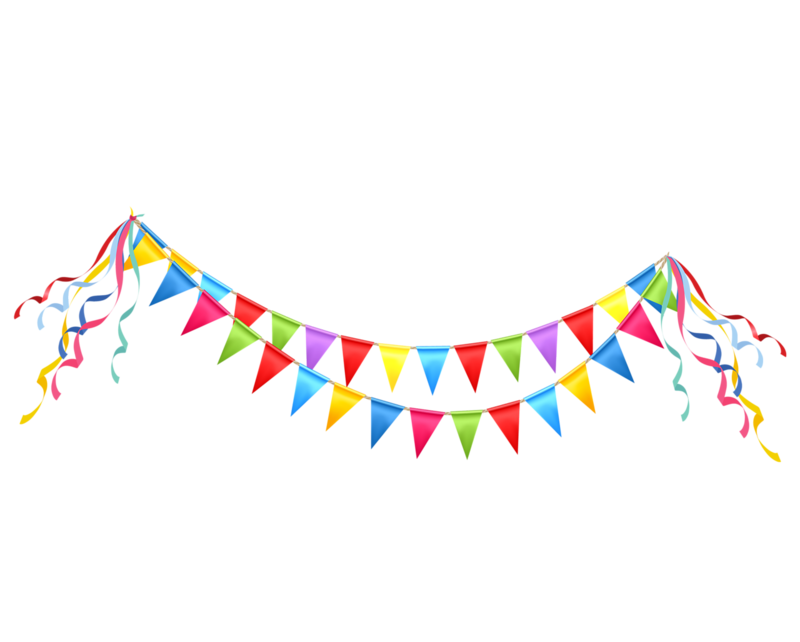 png free download garland vector party banner #96985772