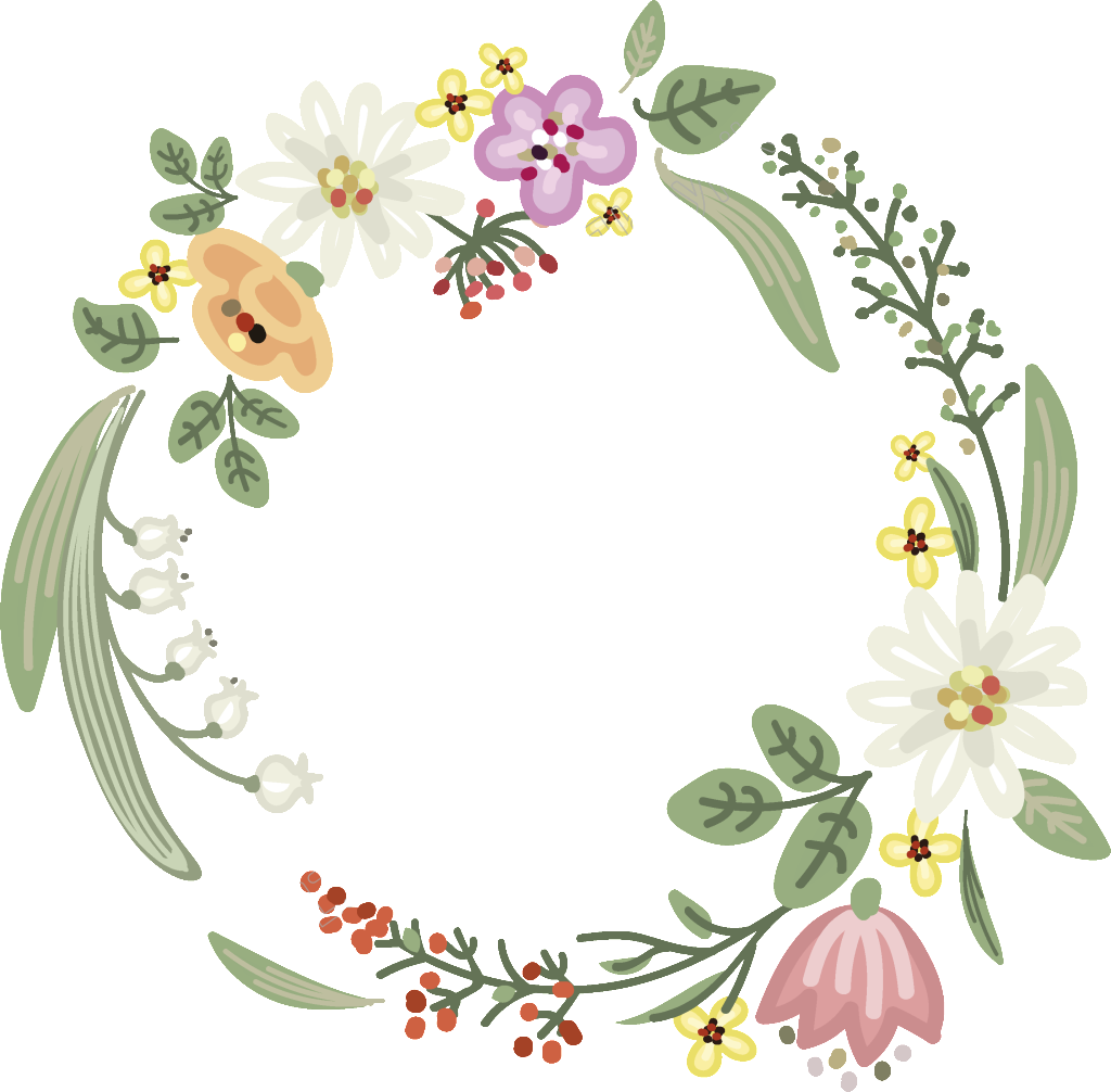 transparent stock Garland vector. White flowers transparent free