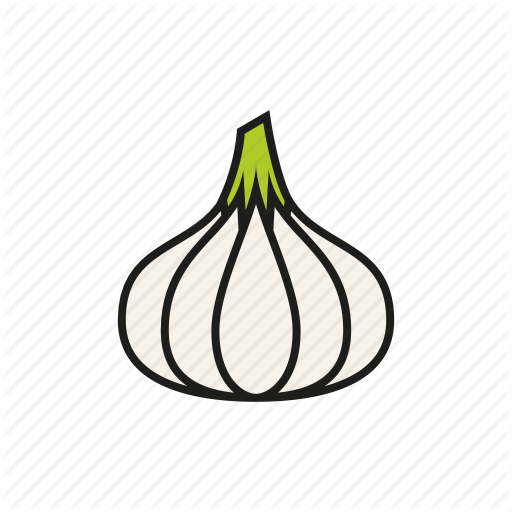 clip transparent stock Fillix vegetables by hoch. Garlic vector outline