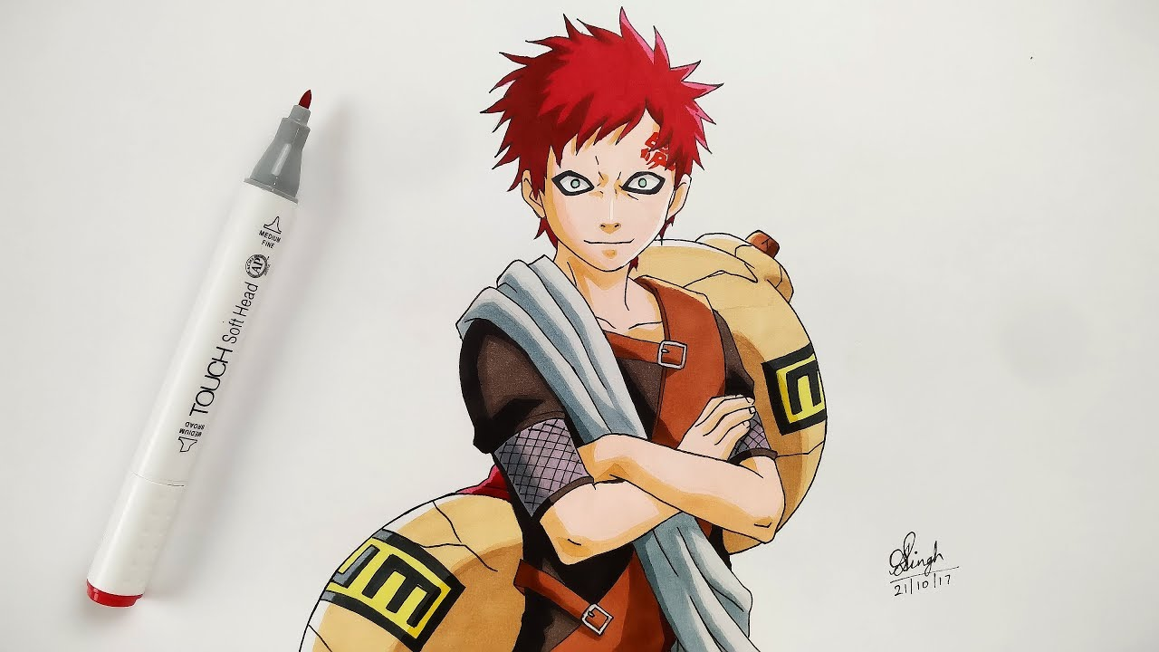 clipart freeuse library How to Draw Gaara