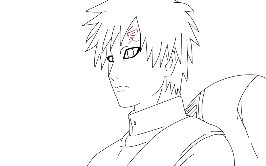 vector transparent stock Gaara Transparent Lineart by doll