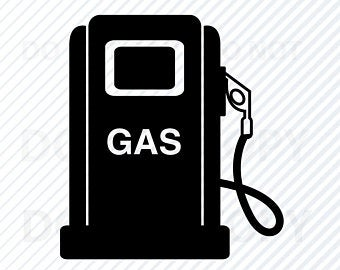 vector black and white download Gas clipart. Pump etsy
