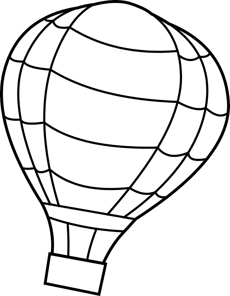 banner transparent hot air balloon coloring pages