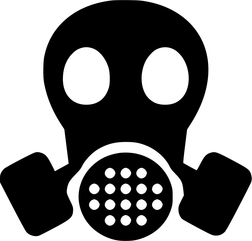 jpg black and white library Gas Mask PNG Image
