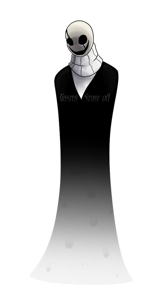 banner black and white stock Ghost Dad by Gaster