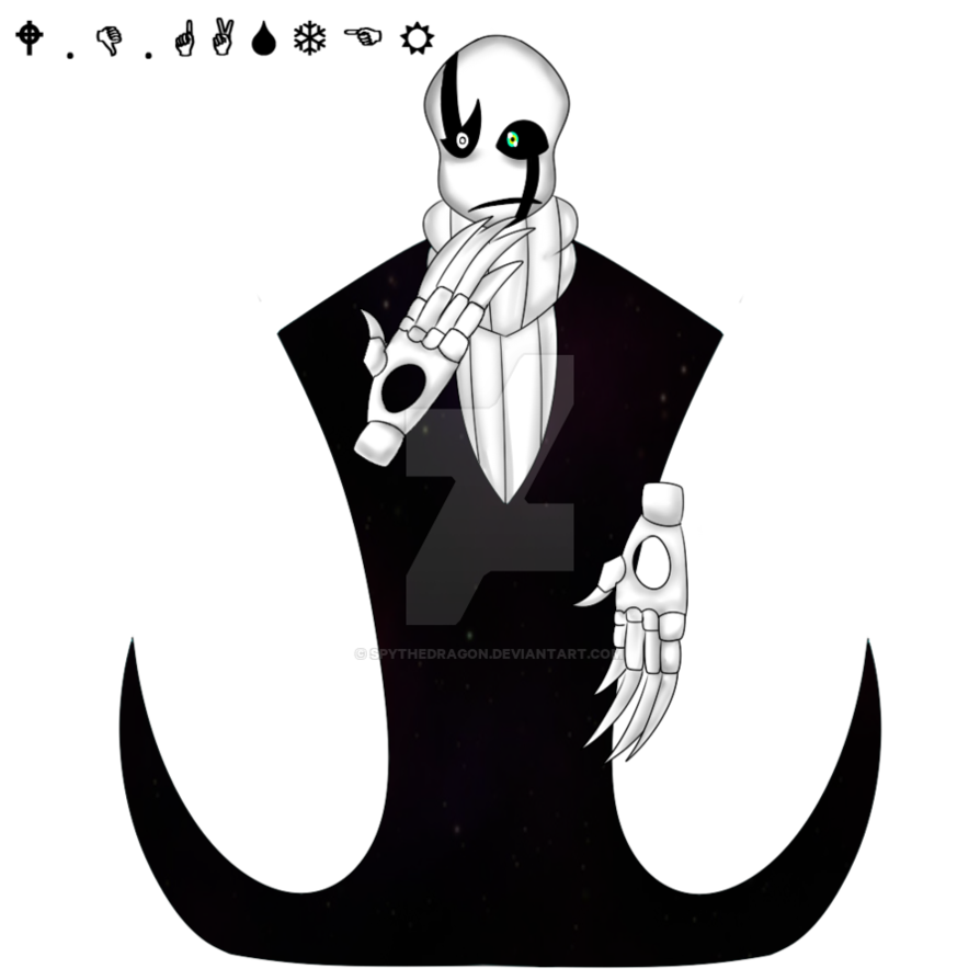 jpg freeuse library gaster drawing undertale #113096286