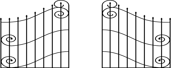 banner library stock Open clip art at. Gate clipart