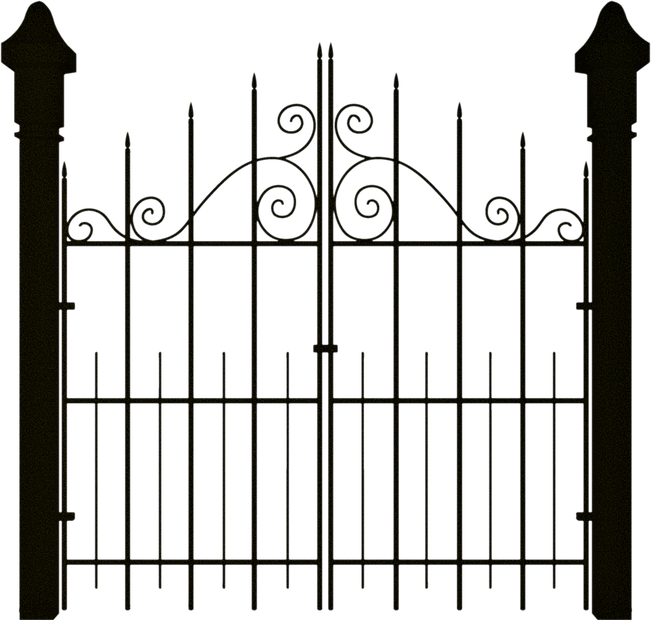 clip royalty free stock Spooky . Gate clipart