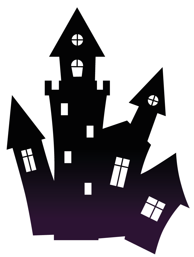 clip art royalty free library Haunted house free on. Hayride clipart october school
