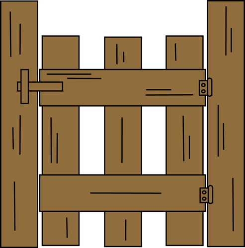 clipart free download Wooden Gate Clipart