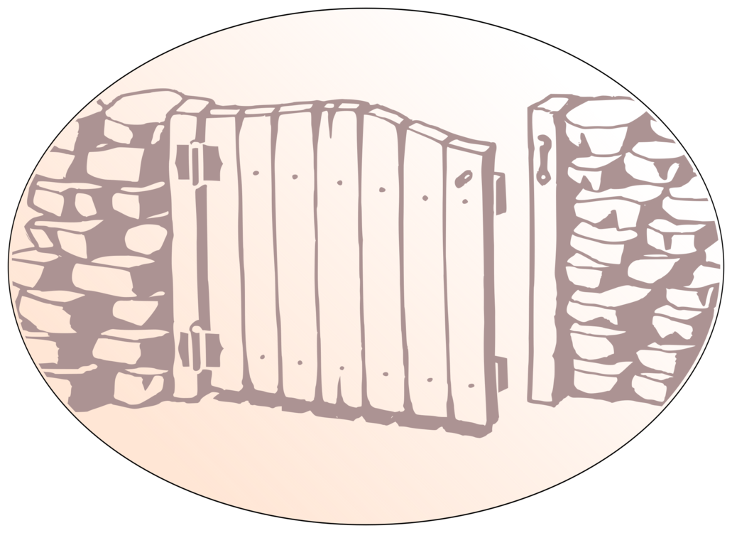 royalty free stock Drawing Gate Wall free commercial clipart