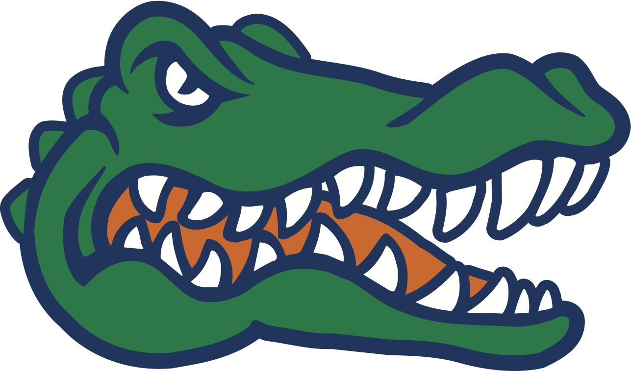 royalty free Florida gators wood cutouts. Gator clipart.
