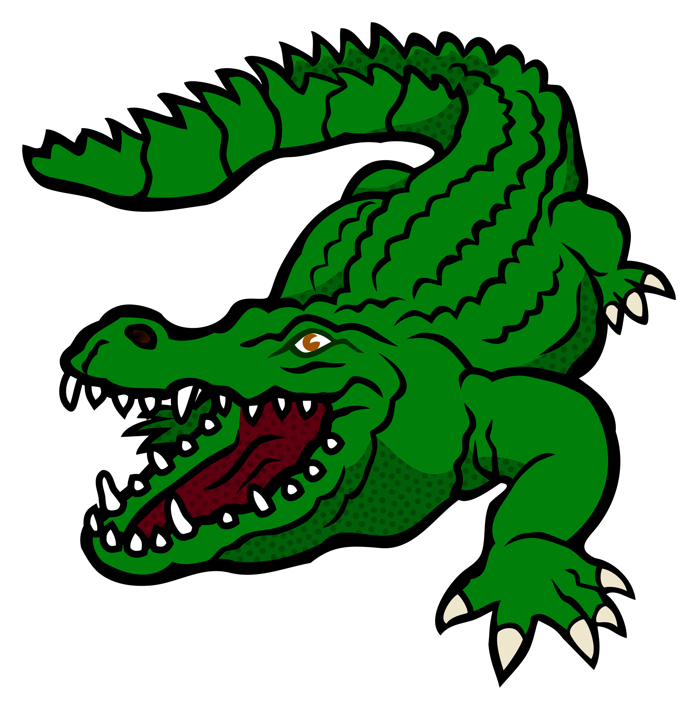 clip black and white stock Gator clipart. Crocodile uf free on.