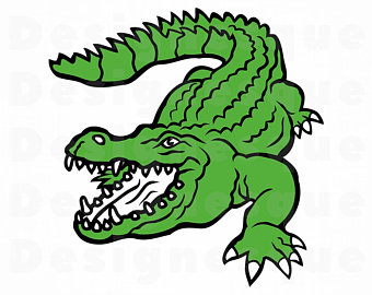 vector black and white Gator clipart. Alligator etsy .