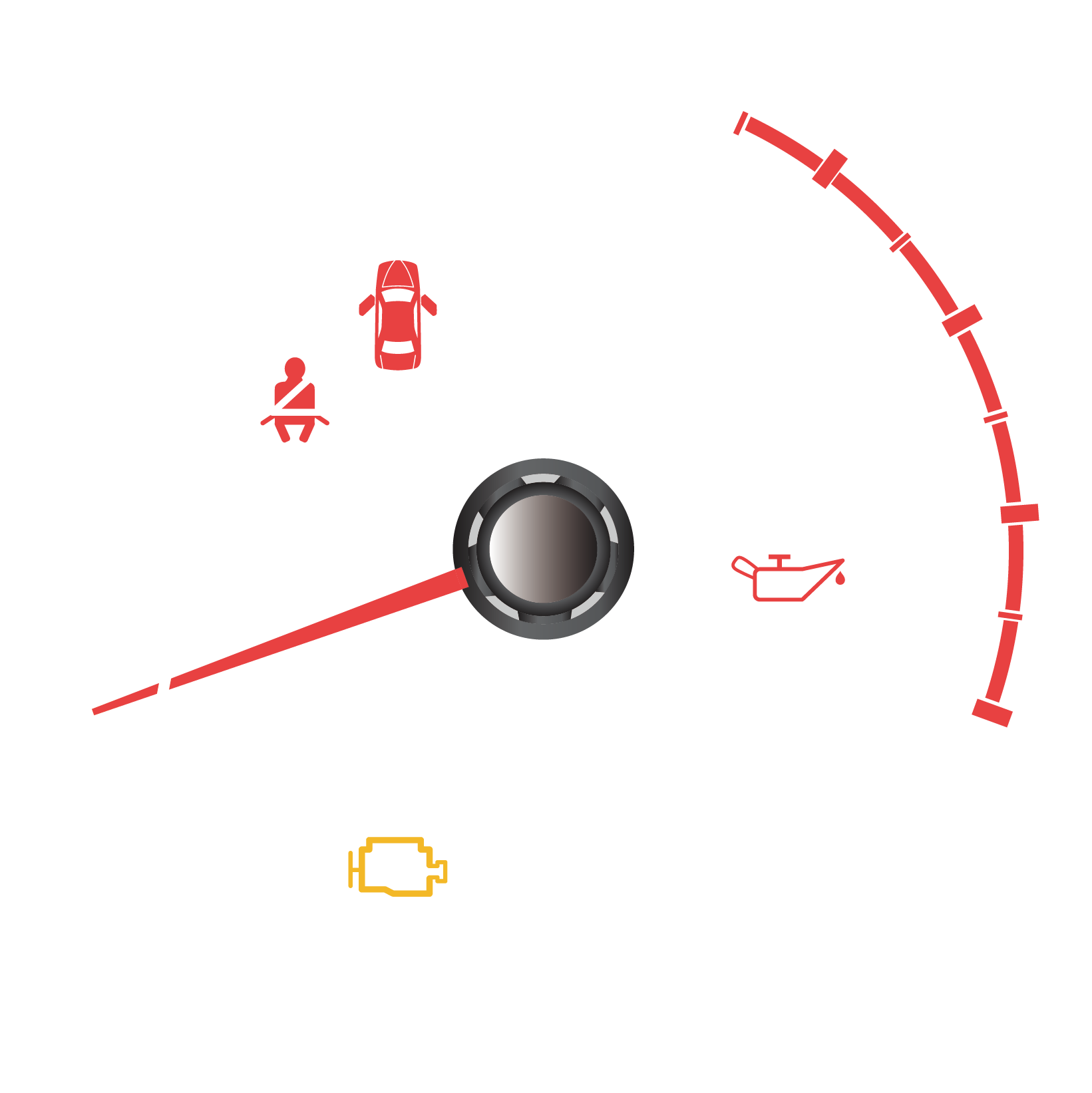 image royalty free library Vector car standard dashboard