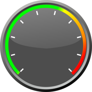 vector black and white Gauge For Temperature