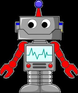 graphic black and white download ilustracion robot