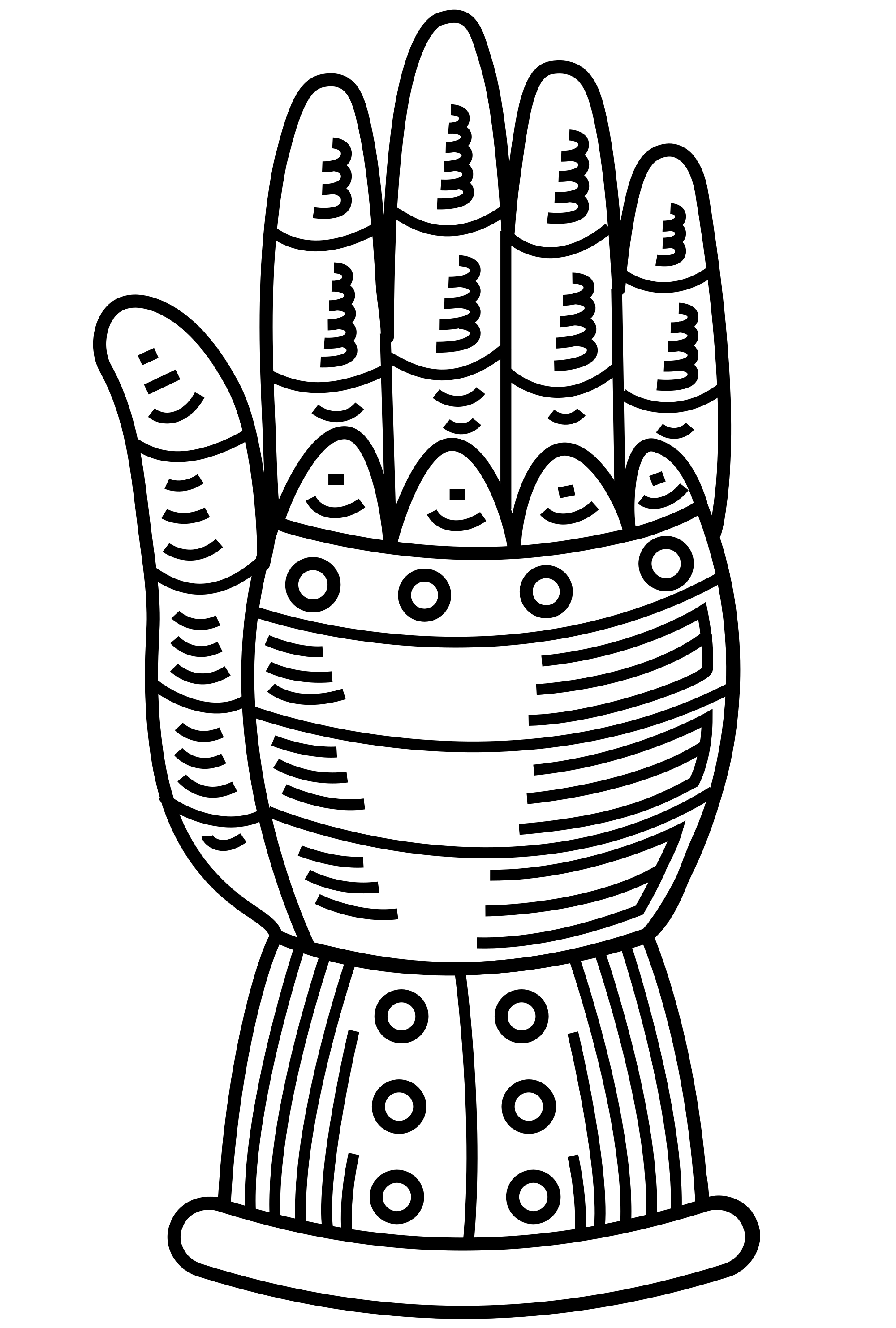 clip art free library File heraldic svg wikimedia. Gauntlet drawing