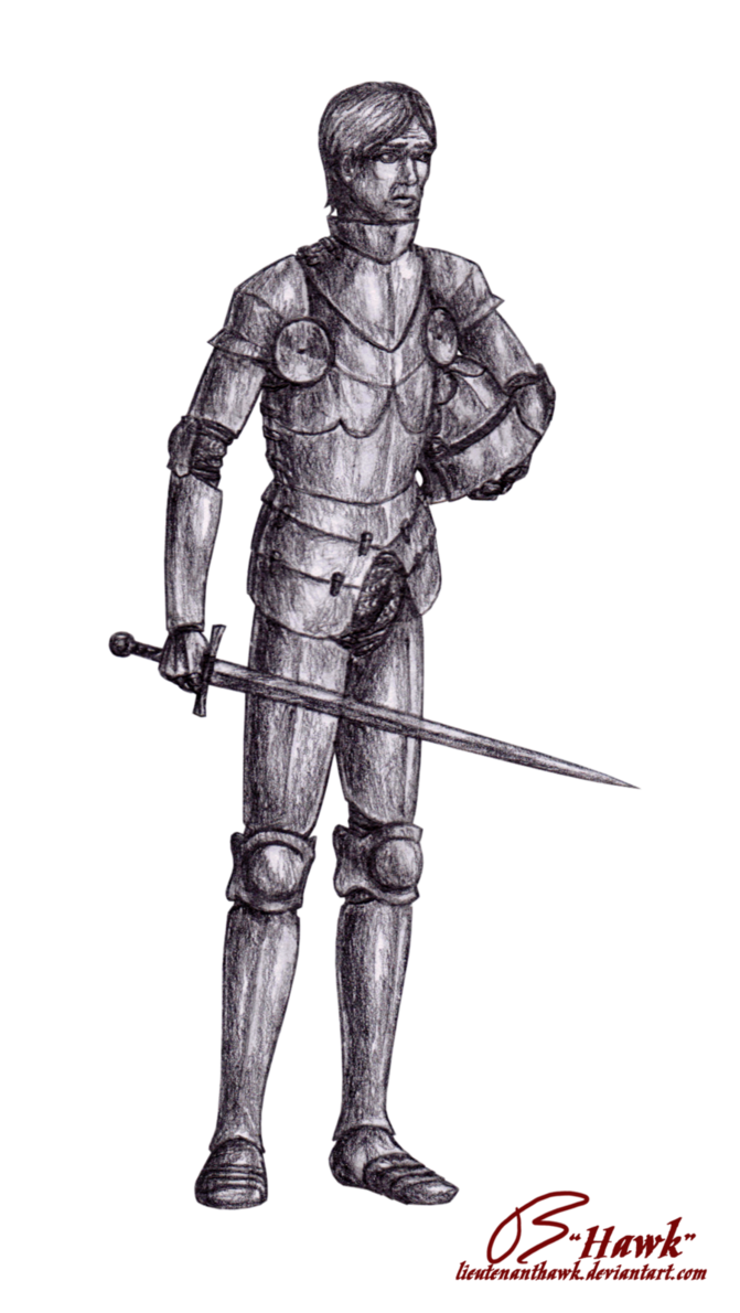 png black and white Gothic Knight by LieutenantHawk on DeviantArt