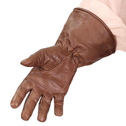 graphic transparent Leather Gloves