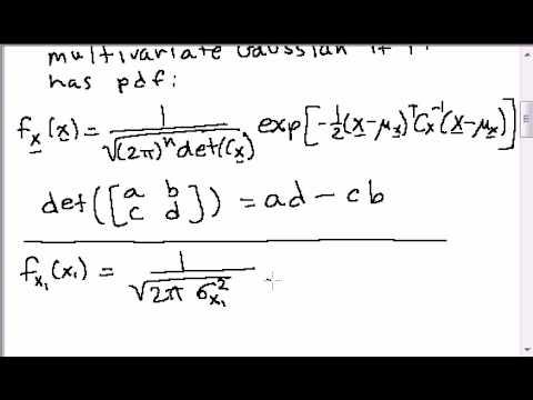 jpg royalty free Multivariate random vectors part. Gaussian vector.