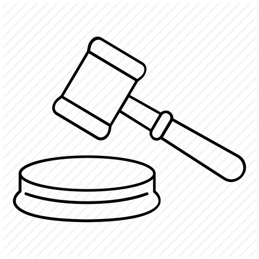 svg black and white library Images of Gavel Outline