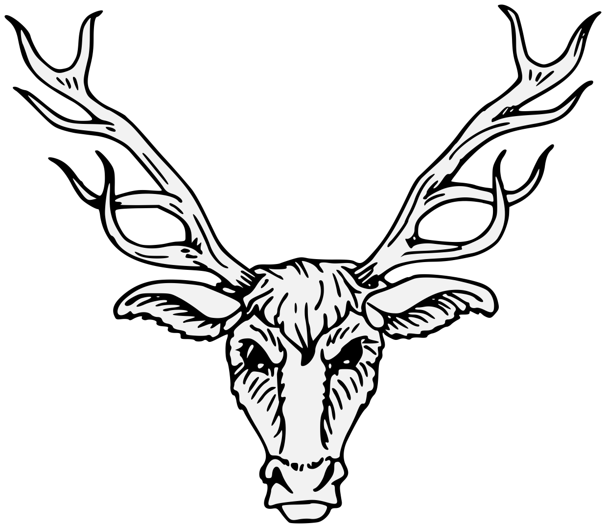 banner transparent library Collection of free Antelope drawing head