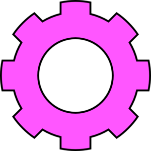 image stock Gear clipart. Pink .