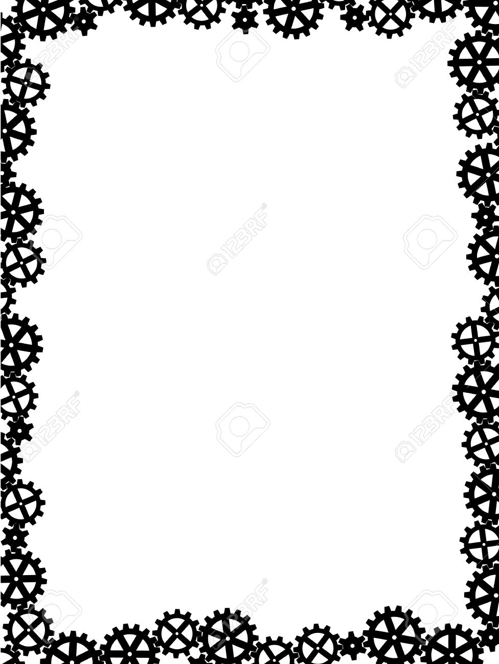 image download Gears border clipart. Portal