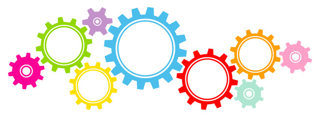 image free stock Graphics color buy this. Gears border clipart