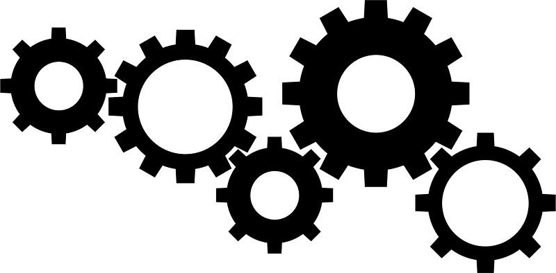 banner black and white download Image result for clip. Gears clipart.