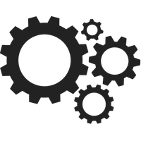 png black and white stock Download free png photo. Gears clipart.