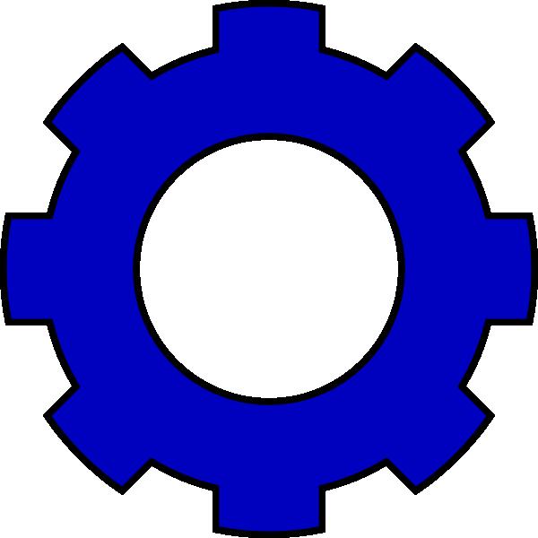 jpg transparent Blue Gear Clip Art at Clker
