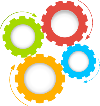 jpg black and white stock Colorful Gears PNG Transparent Colorful Gears