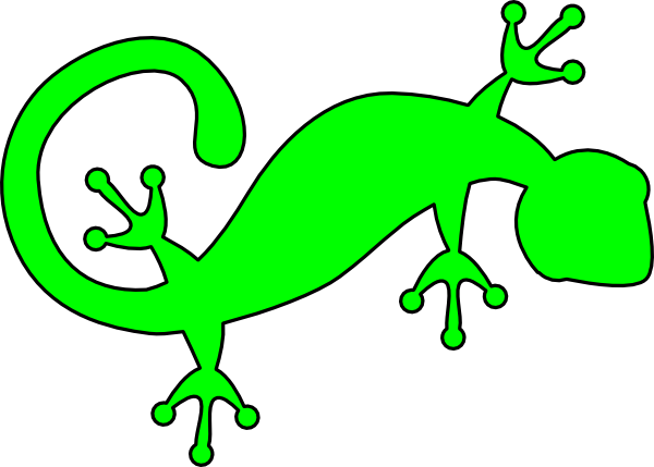 clipart freeuse stock Gecko clipart. Bright green clip art.