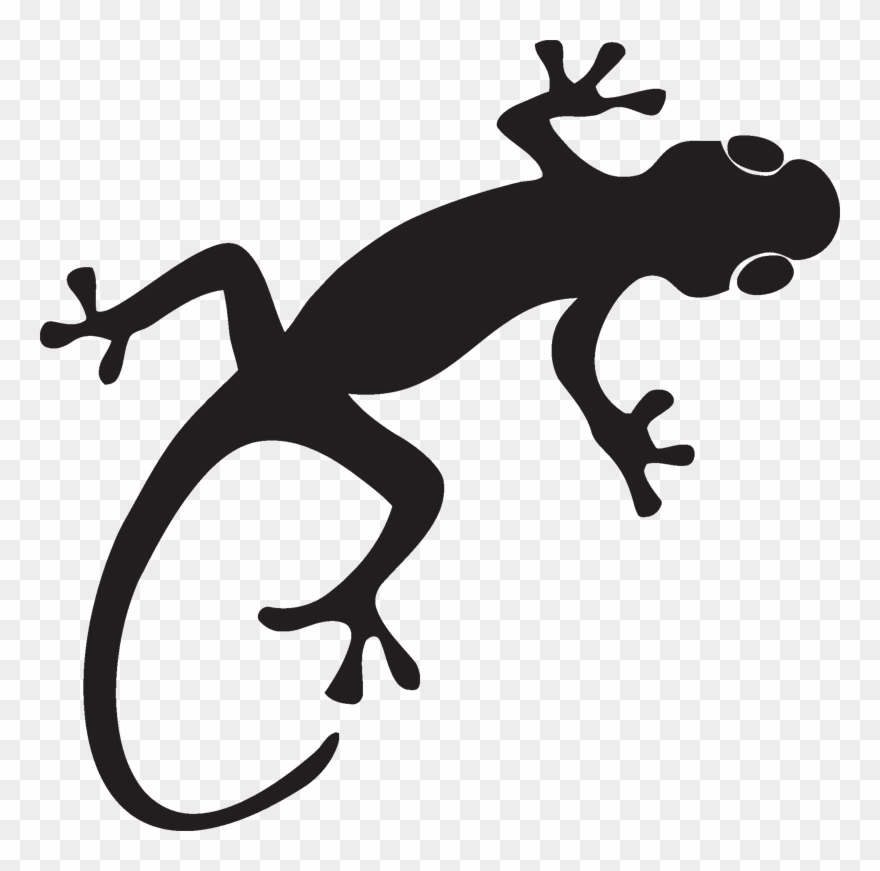 clipart royalty free Gecko clipart. Silhouette png transparent