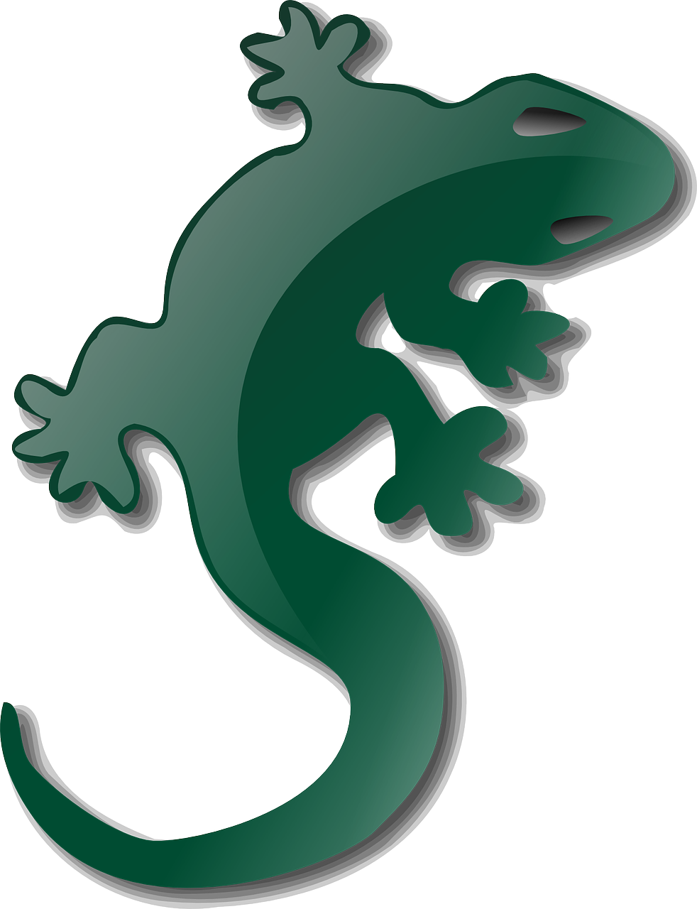 image royalty free stock Gecko vector head. Lizard reptile nature wildlife