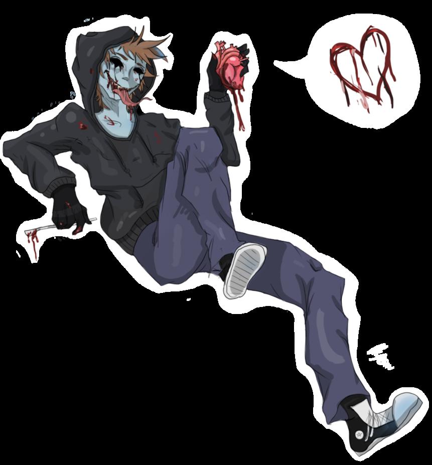 free Gemini drawing creepy. Eyeless jack man woah