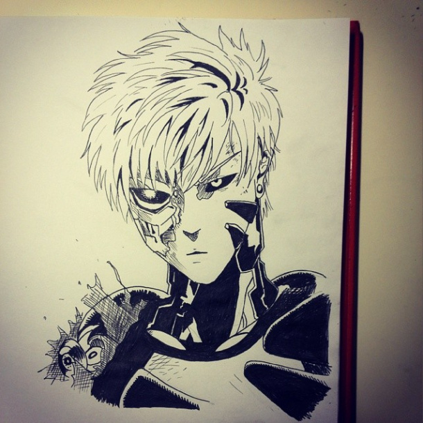 clipart transparent download One Punch Man Genos by baakaainuu on DeviantArt