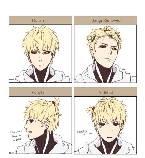svg stock One punch man pt. Genos drawing hair.